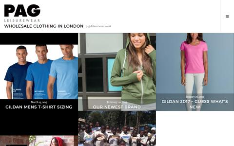 Screenshot of Blog pag-leisurewear.co.uk - Wholesale Clothing in London – pag-leisurewear.co.uk - captured May 11, 2017
