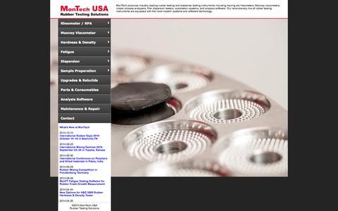 Screenshot of Home Page montechusa.com - MonTech Rubber Testing Instruments - captured Oct. 7, 2014