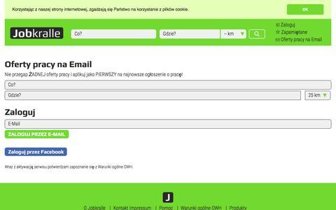 Screenshot of Signup Page jobkralle.pl - Praca - Oferty Pracy - Praca w Polsce - Jobkralle - captured Dec. 25, 2016