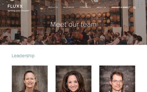 Screenshot of Team Page fluxx.io - Team | Fluxx - captured April 19, 2018