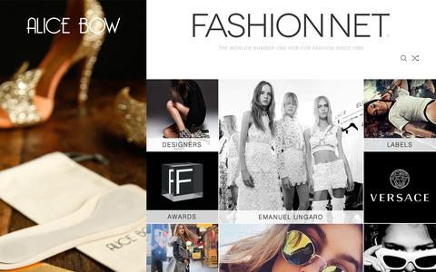 Screenshot of Home Page fashion.net - FASHION NET | this is the world of fashion - captured Oct. 14, 2015