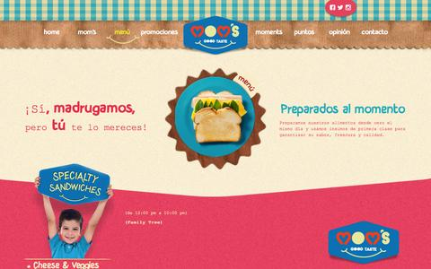 Screenshot of Menu Page momsgoodtaste.com - Mom´s Good Taste - captured Oct. 26, 2014