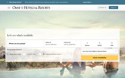 Reservations Check Availability | Omni Hotels & Resorts