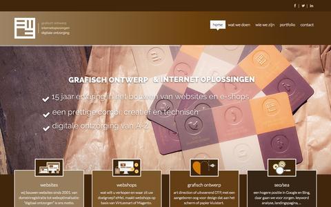 Screenshot of Home Page emel.nl - eMeL: grafisch ontwerp, internet oplossingen & digitale ontzorging - home - captured Sept. 30, 2014
