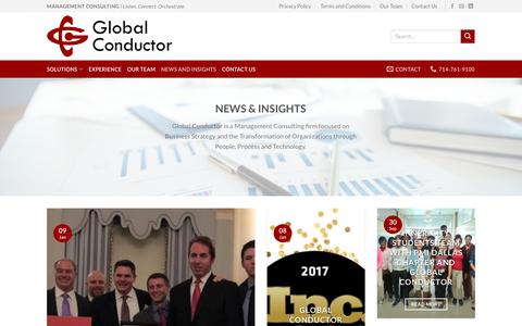 Screenshot of Case Studies Page globalconductor.com - News and Insights | Global Conductor - captured July 19, 2018