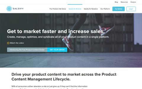 Product Information Management Software | Salsify