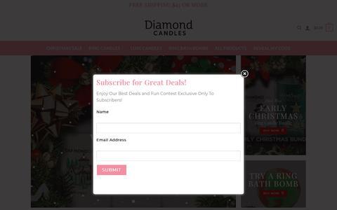 Screenshot of Home Page diamondcandles.com - Home - Diamond Candles - captured Dec. 9, 2019