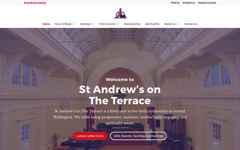 Screenshot of Home Page standrews.org.nz - St Andrews on The Terrace a progressive Wellington church - captured April 24, 2017