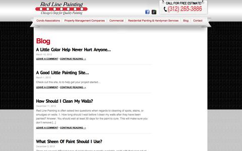 Screenshot of Blog redlinepainting.com - Red Line Painting | Commercial & Condo Association Painting Chicago - Blog - captured Oct. 10, 2014