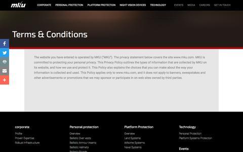 Screenshot of Terms Page mku.com - Terms and Conditions - MKU - captured Aug. 23, 2016