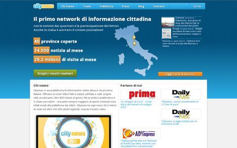 Screenshot of Home Page citynews.it - Citynews - Informazione metropolitana - captured July 11, 2014
