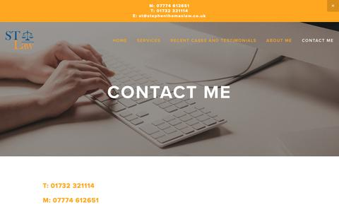 Screenshot of Contact Page stephenthomaslaw.co.uk - CONTACT ME — Stephen Thomas Law: Licensing, Road Traffic and Transport Lawyer - captured Nov. 7, 2018