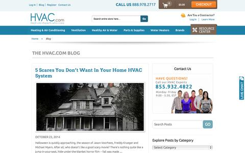 Screenshot of Blog hvac.com - HVAC.com - captured Oct. 28, 2014