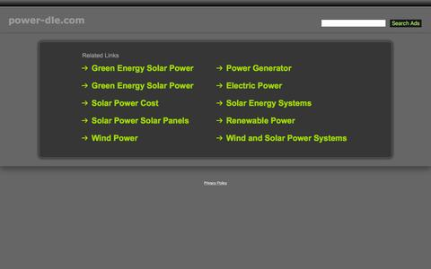 Screenshot of Home Page power-dle.com - Power-Dle.com - captured Nov. 13, 2015