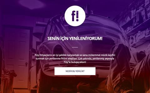 Screenshot of Home Page fizy.com - Fizy - captured Aug. 3, 2015