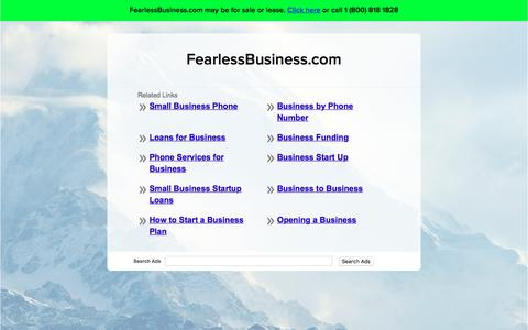 Screenshot of Home Page fearlessbusiness.com - FearlessBusiness.com - captured June 5, 2017