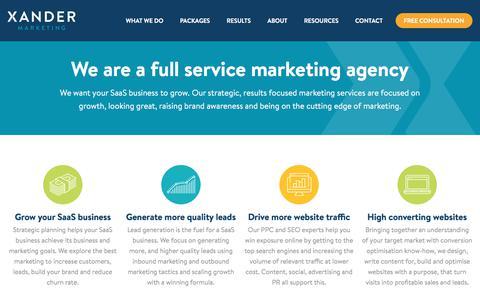 SaaS Marketing Services | Xander Marketing
