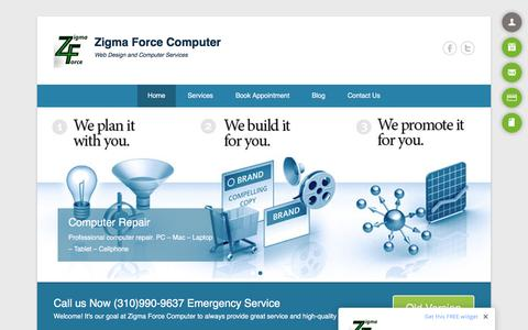 Screenshot of Home Page onlysolarenergy.com - Zigma Force Computer - Web Design and Computer Services - captured Feb. 26, 2016