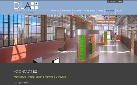 Screenshot of Contact Page dlaplus.com - Contact | DLA+ Architecture & Interior Design - captured Oct. 5, 2014