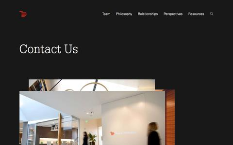 Screenshot of Contact Page indexventures.com - Index Ventures | Contact Us | Index Ventures - captured Nov. 1, 2019