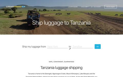 Ship Luggage to Tanzania - Guaranteed by Luggage Forward®
