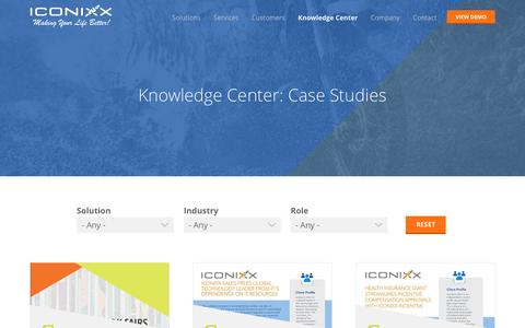 Screenshot of Case Studies Page iconixx.com - Case Studies | Iconixx - captured May 9, 2017