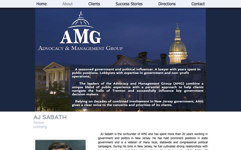 Screenshot of About Page amg101.com - About Advocacy & Management Group - captured Oct. 7, 2017