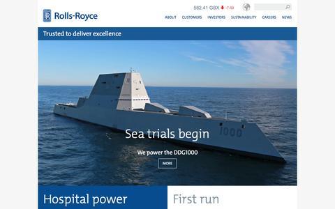 Screenshot of Home Page rolls-royce.com - Rolls-Royce - captured Dec. 9, 2015