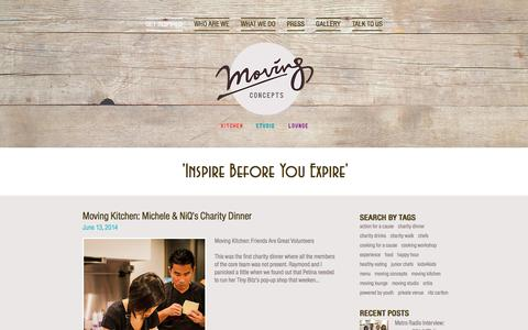 Screenshot of Menu Page moving-concepts.com - Moving Concepts: Inspire Before You Expire - captured Oct. 23, 2017