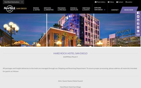 Hard Rock Hotel San Diego Shipping & Policies – Hotel in the Gaslamp District