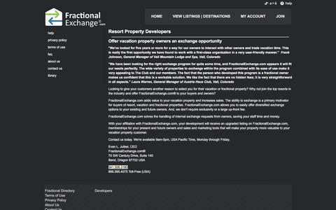 Screenshot of Developers Page fractionalexchange.com - FractionalExchange.com - Fractional Exchange - Exchange Keys. Trade Dreams - captured July 6, 2017