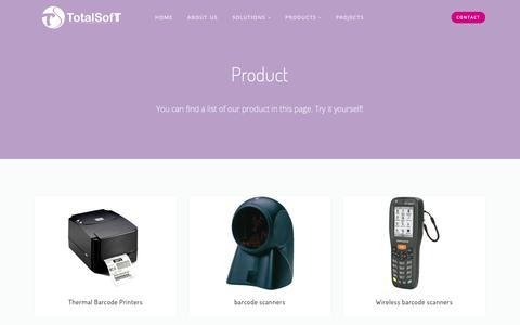 Screenshot of Products Page tst.com.pk - TheSaaS — Hardware - captured Nov. 16, 2018