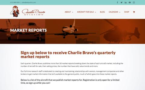 Screenshot of Signup Page wepushtin.com - Charlie Bravo Aviation | Market Report Sign Up - captured July 17, 2018