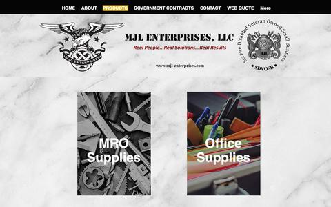 Screenshot of Products Page mjl-enterprises.com - MJL Enterprises, LLC   PRODUCTS - captured Sept. 30, 2018