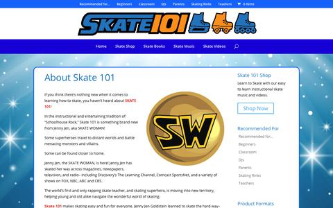 Screenshot of About Page skate101.com - About Skate 101 and Skate Woman - Skate 101 - captured Oct. 2, 2018
