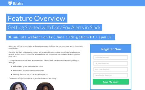 Getting Started with DataFox Alerts in Slack