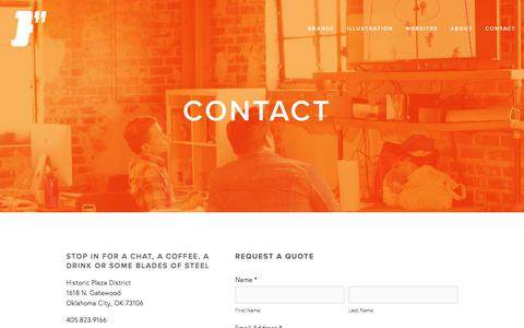 Screenshot of Contact Page finchok.com - Contact — Finch Creative - captured Feb. 10, 2016