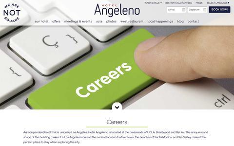 Screenshot of Jobs Page hotelangeleno.com - Los Angeles Careers | Hotels Hiring in Los Angeles - captured July 17, 2016