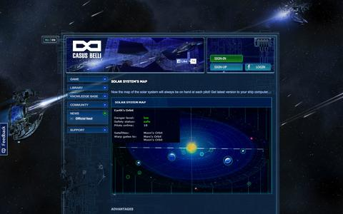 Screenshot of Maps & Directions Page infinitios.com - Casus Belli - sci-fi space simulator, play in browser - captured Sept. 30, 2014