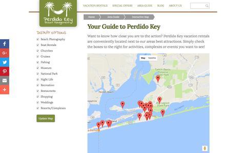 Screenshot of Maps & Directions Page perdidokeyflorida.com - Perdido Key Resort Management - Map - captured July 22, 2017