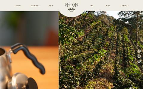 Screenshot of Home Page nyloncoffee.sg - Nylon Coffee Roasters - captured Oct. 6, 2014