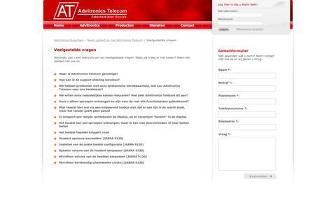 Screenshot of FAQ Page bentugoedbereikbaar.nl - Veelgestelde vragen - Advitronics Huisartsen - captured April 4, 2016