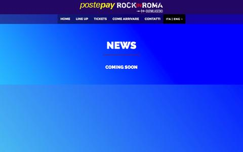 Screenshot of Press Page rockinroma.com - NEWS - POSTEPAY ROCK IN ROMA 2016 - captured Jan. 14, 2016