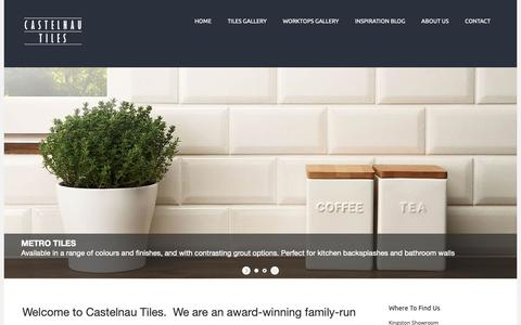 Screenshot of Home Page castelnautiles.co.uk - London Tile Shop | Tiles Shop Surrey | Kingston Tiles - captured Sept. 27, 2018