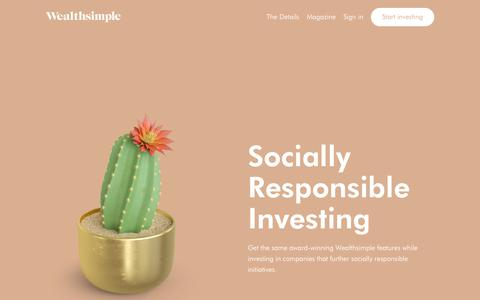 Socially Responsible Investing | Wealthsimple