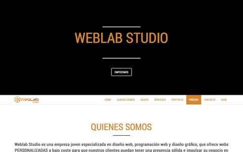 Screenshot of Home Page web-dt.com - Web Lab Studio - captured Oct. 7, 2014