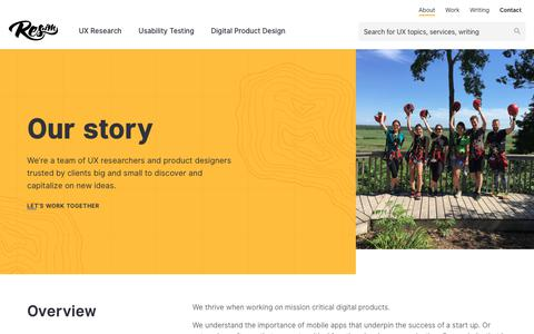 Screenshot of About Page res.im - We are your UX research and design partner - captured Nov. 15, 2018