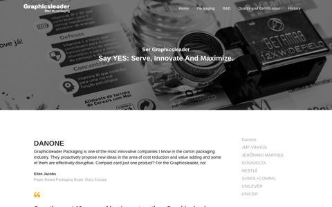 Screenshot of Testimonials Page graphicsleader.com - Testimonials | Graphics Leader - captured Sept. 30, 2018