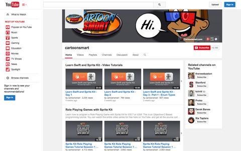 Screenshot of YouTube Page youtube.com - cartoonsmart  - YouTube - captured Nov. 4, 2014