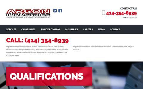 Screenshot of Services Page argonind.biz - SERVICES | Argon Industries - captured Nov. 21, 2016